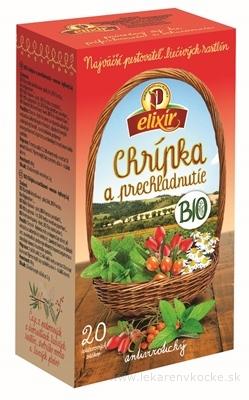AGROKARPATY elixír BIO Chrípka a prechladnutie ovocno - bylinný čaj v nálevových vreckách 20x2 g (40 g)