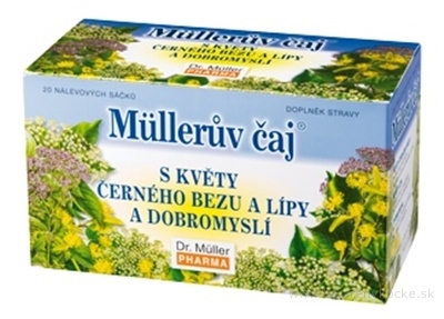 Müllerov čaj S KVETMI BAZY, LIPY A PAMAJORANOM bylinný čaj 20x1,5 g (30 g)