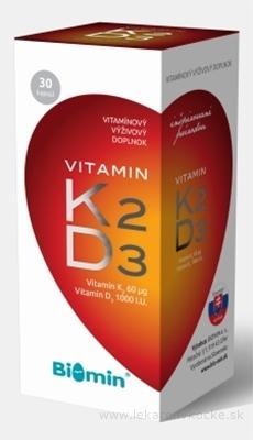 BIOMIN VITAMIN K2 + D3 PROTECT cps 1x30 ks
