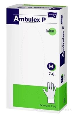 Ambulex P rukavice LATEXOVÉ, potiahnuté polymérom veľ. M, nesterilné, nepúdrované 1x100 ks