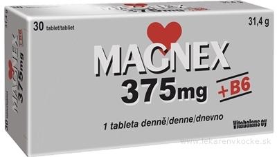 Magnex 375 mg + B6 tbl 1x30 ks