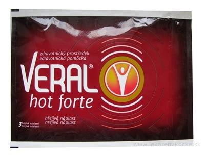 VERAL HOT Forte hrejivá náplasť vo vrecku 1x3 ks