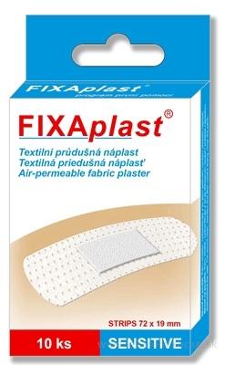 FIXAplast SENSITIVE strip textilná priedušná náplasť 72x19 mm, 1x10 ks