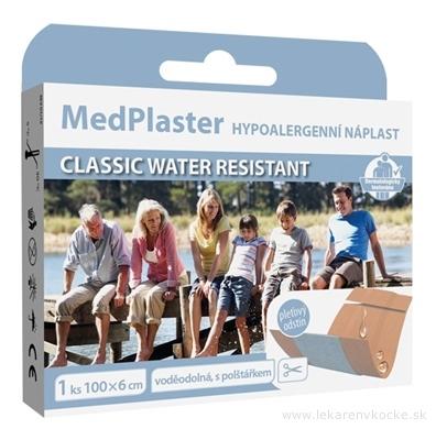 MedPlaster Náplasť CLASSIC WATER RESISTANT 100x6 cm, vodeodolná s vankúšikom 1x1 ks