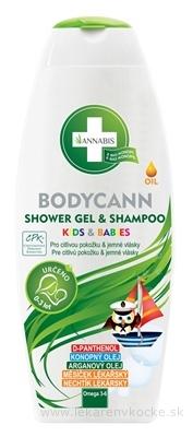 ANNABIS BODYCANN SHOWER GEL&SHAMPOO KIDS&BABIES detský sprchový gél a šampón 1x250 ml