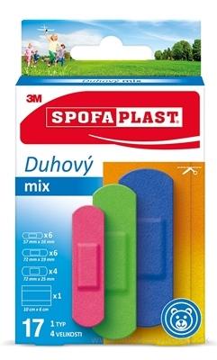 3M SPOFAPLAST č.606 Náplasti Dúhový mix 1 typ, 4 veľkosti, 1x17 ks