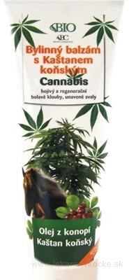 BC BIO Cannabis Bylinný balzam s pagaštanom konským, 1x300 ml