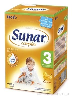 SUNAR COMPLEX 3 BANÁN, nový mliečna výživa (od ukonč. 12. mesiaca) 1x600 g