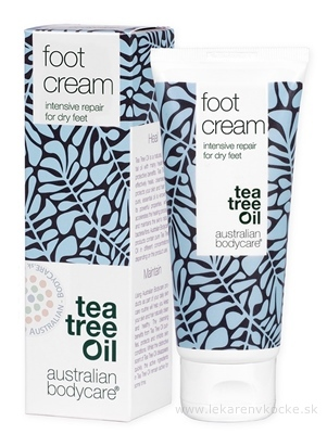 ABC tea tree oil FOOT CREAM - Krém na suché nohy 1x100 ml