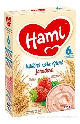 Hami mliečna kaša ryžová jahodová (od ukonč. 6. mesiaca) 1x225 g