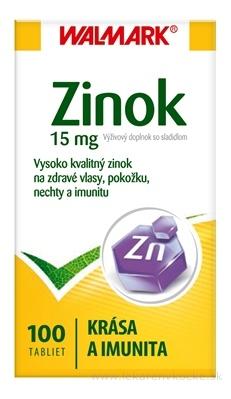 WALMARK ZINOK 15 mg tbl (inovovaný obal 2015) 1x100 ks
