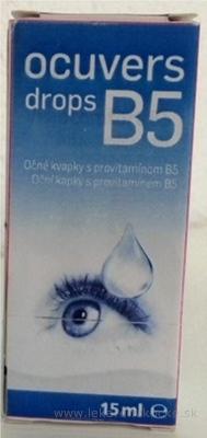 Ocuvers drops B5 očné kvapky s provitamínom B5, 1x15 ml