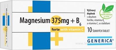 GENERICA Magnesium 375 mg + B6 forte s vitamínom C tbl eff 1x10 ks