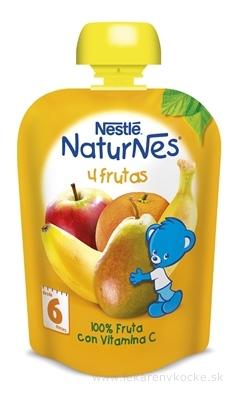 Nestlé NaturNes 4 Ovocia kapsička, ovocná desiata, (od ukonč. 6 mesiaca) 1x90 g