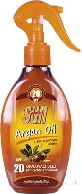 SUN ARGAN OIL opaľovací OLEJ SPF 20 1x200 ml