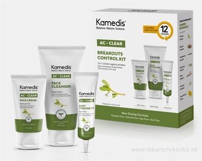 Kamedis AC-CLEAR KIT na mastnú pokožku: krém na tvár 50ml+čistiaci gél na tvár 100ml+gél na lok.ošetrenie 22ml, 1x1 set