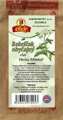 AGROKARPATY REBRÍČEK OBYČAJNÝ vňať bylinný čaj 1x30 g