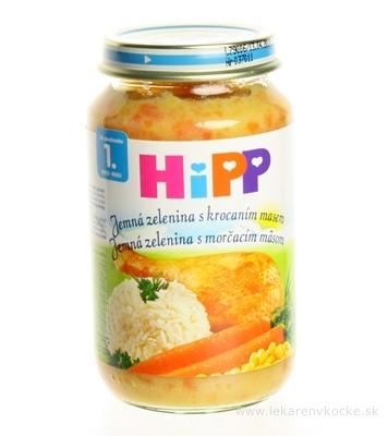 HiPP Príkrm Zelenina s morčacím mäsom detské menu (od ukonč. 1. roka) 1x220 g