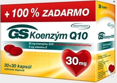GS Koenzým Q10 30 mg cps 30+30 zadarmo (60 ks)