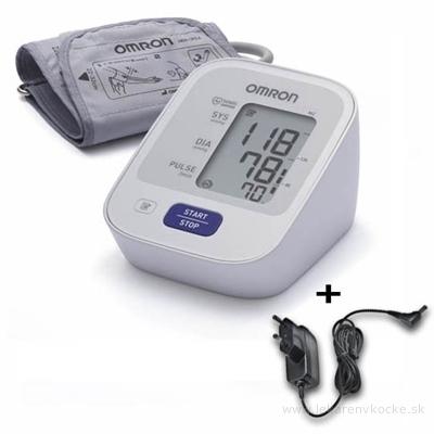 OMRON M2 Digitálny TLAKOMER automatický na rameno 1 ks + sieťový adaptér zadarmo 1 ks, 1x1 set