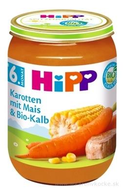 HiPP Príkrm BIO Mrkva s kukuricou a teľacím mäsom zeleninovo-mäsový príkrm (od ukonč. 5.mesiaca) 1x190 g