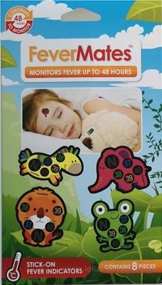 FeverMates monitors nálepkové teplomery pre deti 1x8 ks