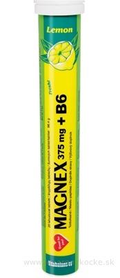Vitabalans MAGNEX 375 mg + B6 effervescent tbl eff Lemon 1x20 ks