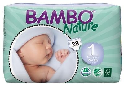 BAMBO NEWBORN 1 (2-4 kg) detské plienky priedušné, savosť 500 ml, 1x28 ks