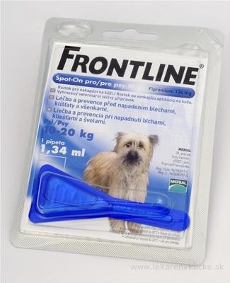 FRONTLINE Spot-on pre psy M sol (na kožu, pipeta, psy 10-20 kg) 1x1,34 ml