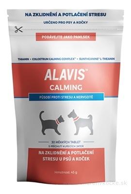 ALAVIS CALMING mäkké tablety pre psy a mačky 1x30 ks