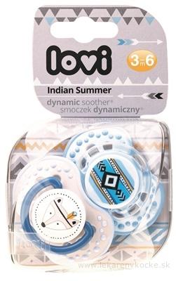 LOVI Dynamický utišujúci cumlík Indian Summer (3-6m), Boy, 1x2 ks