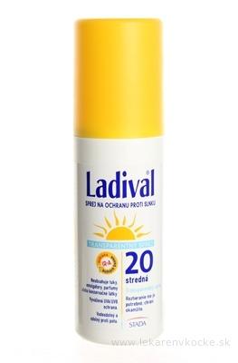 Ladival Transparentný sprej SPF 20 na ochranu proti slnku 1x150 ml