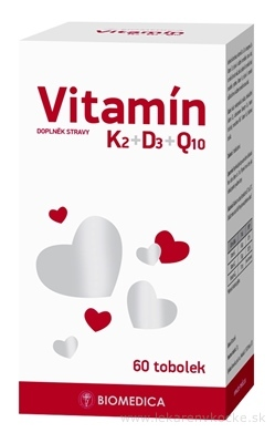 BIOMEDICA Vitamín K2+D3+Q10 cps 1x60 ks