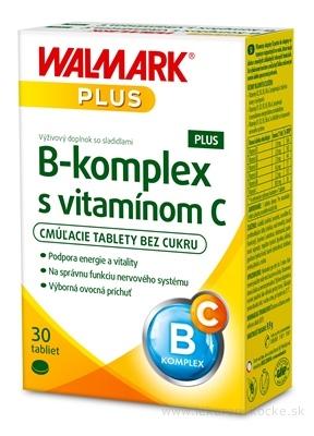WALMARK B-komplex PLUS s vitamínom C tbl cmúľacie (inovovaný obal 2018) 1x30 ks