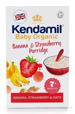 KENDAMIL Organic, BIO Kaša banán a jahoda obilná, viaczrnná (od ukonč. 7. mesiaca) 1x150 g