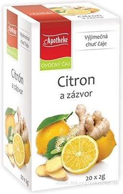 APOTHEKE PREMIER SELECTION ČAJ CITRÓN A ZÁZVOR 20x2 g (40 g)