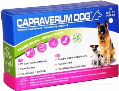 CAPRAVERUM DOG probioticum-prebioticum tbl 1x30 ks
