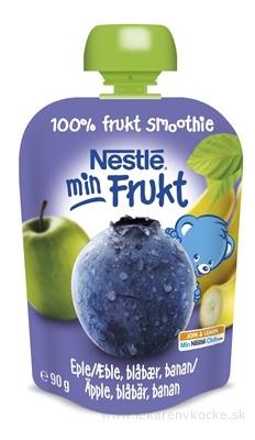 Nestlé min Frukt Čučoriedka Jablko Banán kapsička, ovocná desiata (od ukonč. 6. mesiaca) 1x90 g