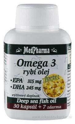 MedPharma OMEGA 3 rybí olej forte - EPA, DHA cps 30+7 zadarmo (37 ks)