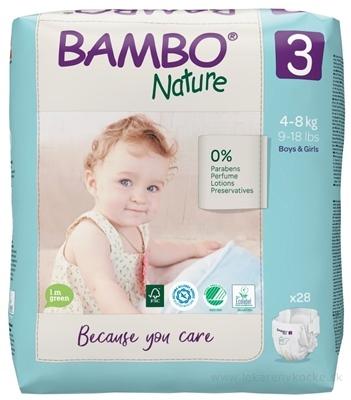 BAMBO 3 (4-8 kg) detské plienky priedušné, savosť 750 ml (inov.2020) 1x28 ks