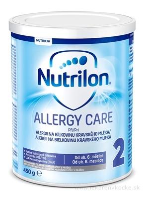 Nutrilon 2 ALLERGY CARE mliečna výživa v prášku (od ukonč. 6. mesiaca) 1x450 g