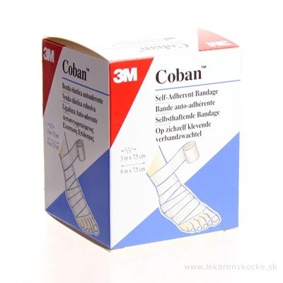 3M Coban 1583/W kompresný obväz 7,5 cm x 3 m, biely, 1x1 ks