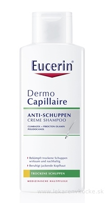 Eucerin DermoCapillaire proti suchým lupinám šampón 1x250 ml
