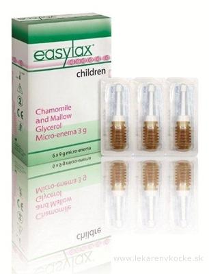 Easylax - Harmančekovo glycerínové preháňadlo pre deti 6x3 g