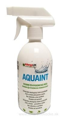 AQUAINT Osobná + Hygienická starostlivosť 100% ekologická čistiaca voda, rozprašovač 1x500 ml