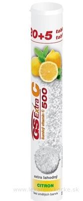 GS Extra C 500 šumivý citrón tbl eff 20+5 navyše (25 ks)