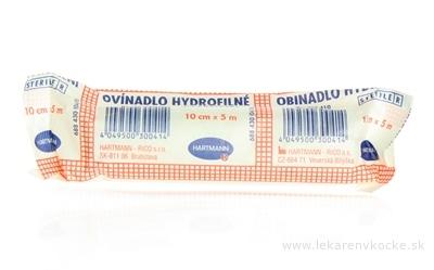 OVÍNADLO HYDROFILNÉ pletené, sterilné (10cm x 5m) 1x10 ks