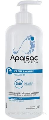 Apaisac BIORGA 24h hydratačný čistiaci krém modrá rada (24h Hydratation Cleansing Cream) 1x200 ml
