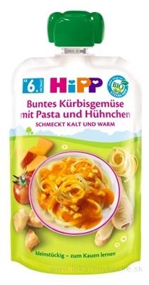 HiPP BIO Zelenina,tekvica,cestoviny a kuracie mäso príkrm (od ukonč. 5. mesiaca) 1x130 g