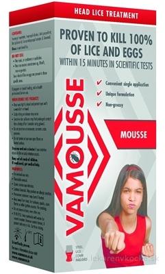 VAMOUSSE - ošetrenie hlavy proti všiam pena 1x160 ml
